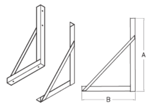 zinc plated mounting bracket illustrations