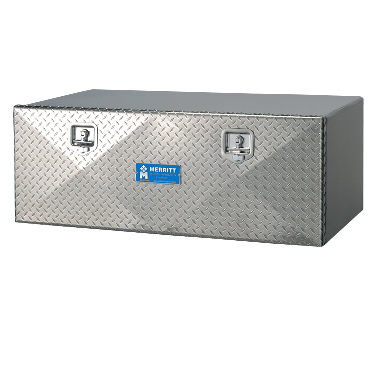 Diamond plate single door toolbox