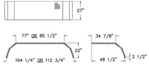aluminum fender dimensions